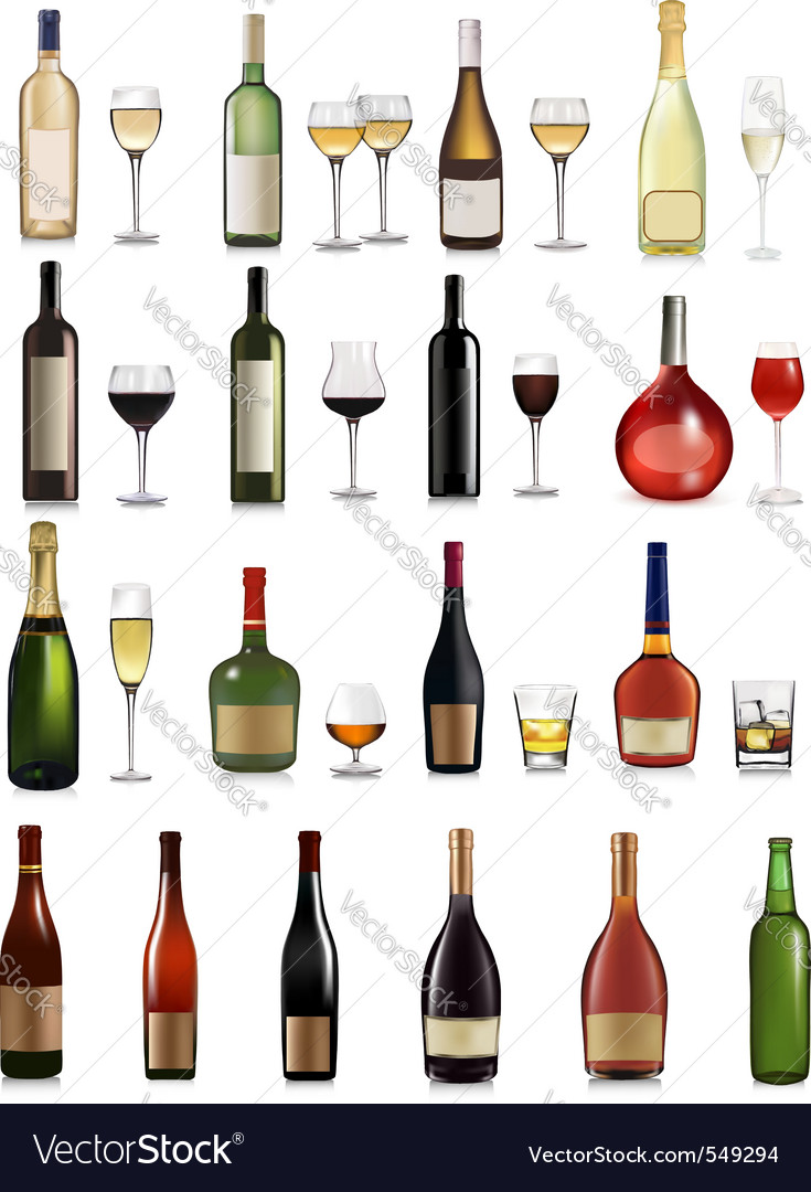 Big set of different drinks vector | Price: 3 Credit (USD $3)
