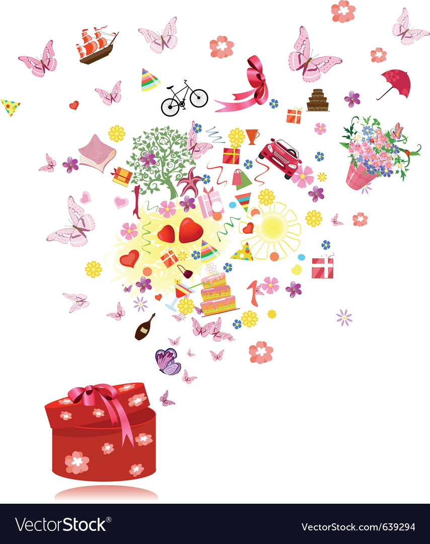 Birthday gifts vector | Price: 1 Credit (USD $1)