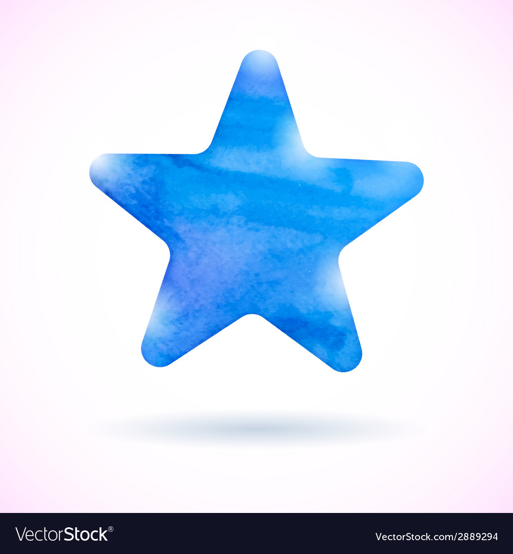 Blue watercolor star vector | Price: 1 Credit (USD $1)
