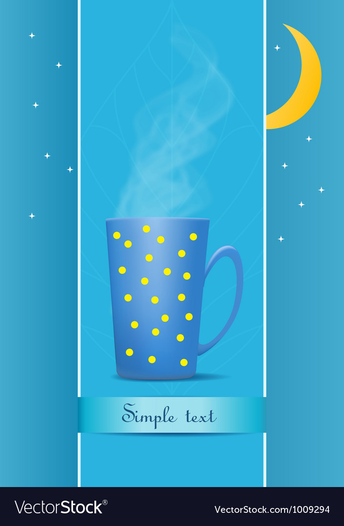 Cup of tea evening vector | Price: 1 Credit (USD $1)