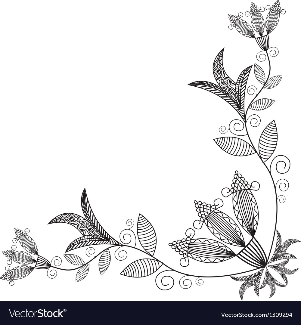 Floral pattern background vector | Price: 1 Credit (USD $1)