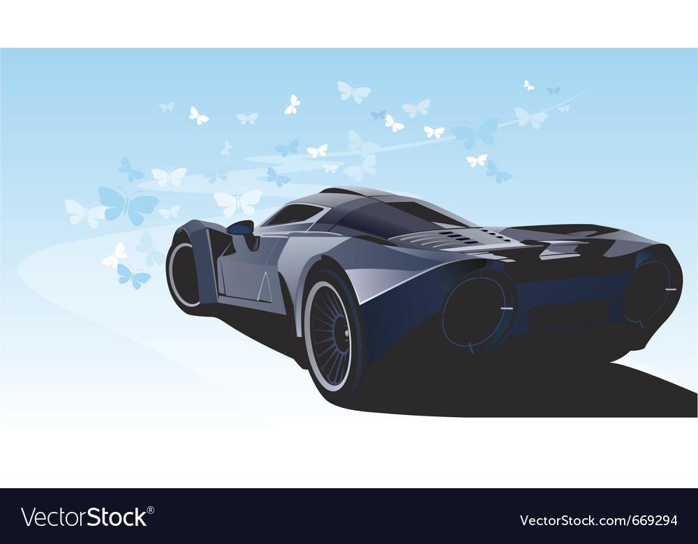 Futuristic sports car vector | Price: 1 Credit (USD $1)