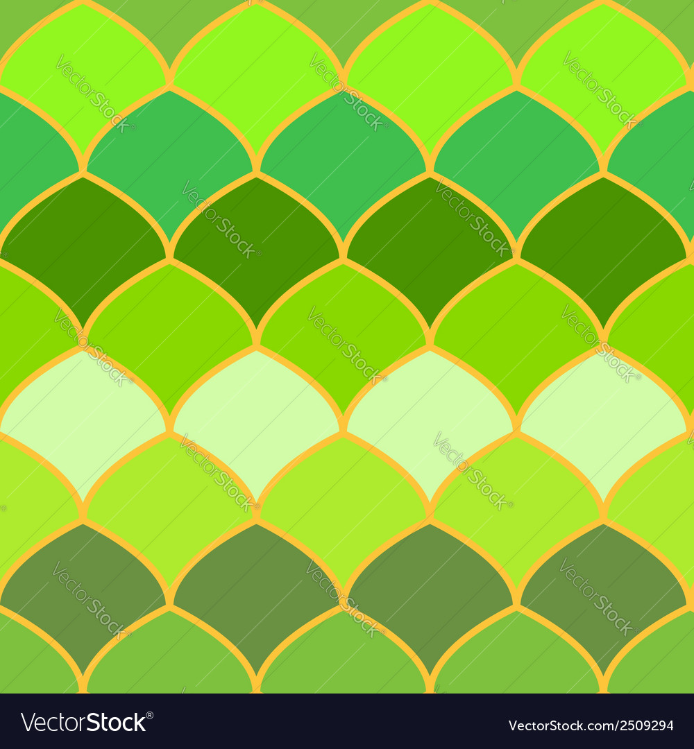 Green scales abstract seamless background vector | Price: 1 Credit (USD $1)