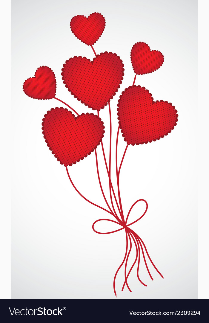 Heartshaped balloons with pattern of points isolat vector | Price: 1 Credit (USD $1)