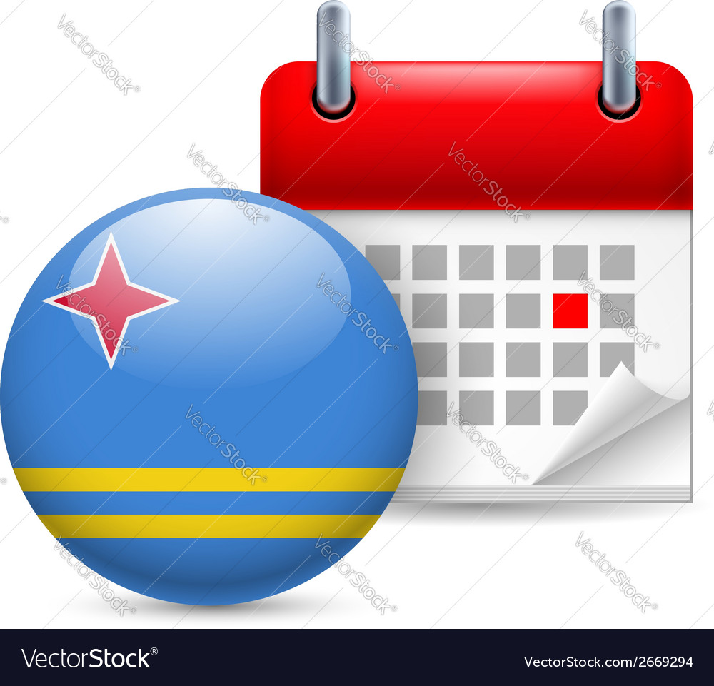 Icon of national day in aruba vector | Price: 1 Credit (USD $1)