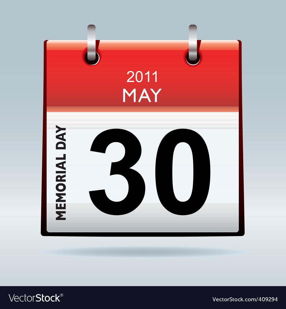 Memorial day calendar vector   Price: 1 Credit (USD $1)