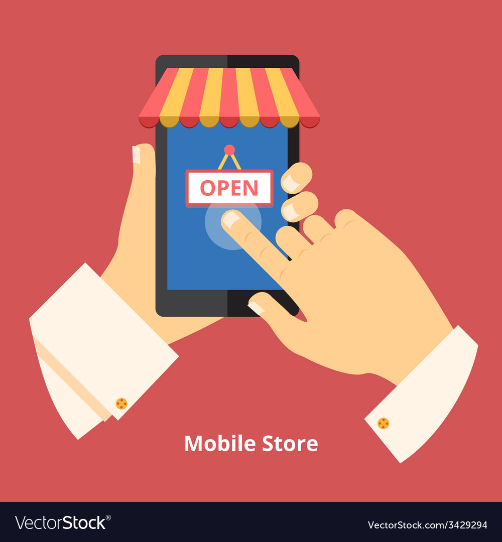 Mobile phone store vector | Price: 1 Credit (USD $1)