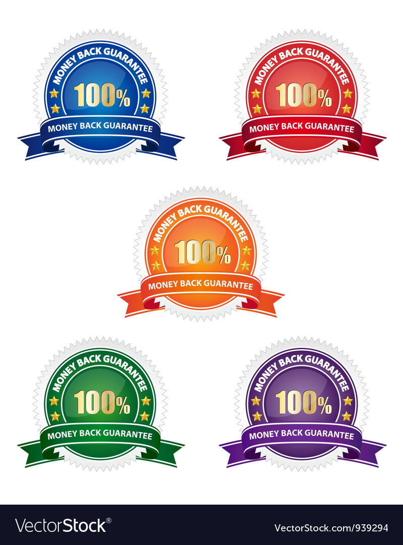 Money back guarantee badges vector | Price: 1 Credit (USD $1)