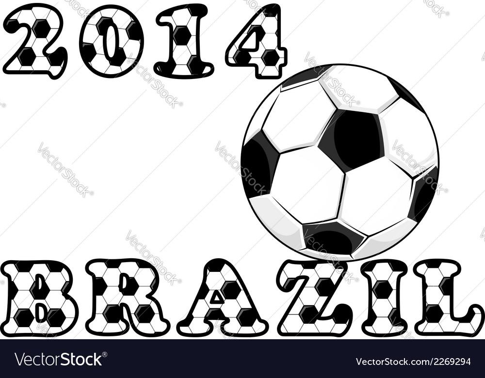 Soccer or football emblem vector | Price: 1 Credit (USD $1)