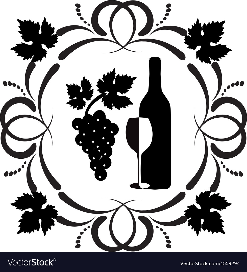 Wine ornament vector | Price: 1 Credit (USD $1)