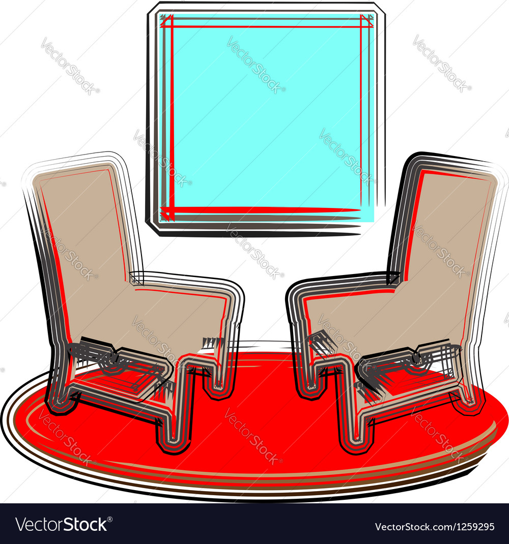 2 chairs vector | Price: 1 Credit (USD $1)