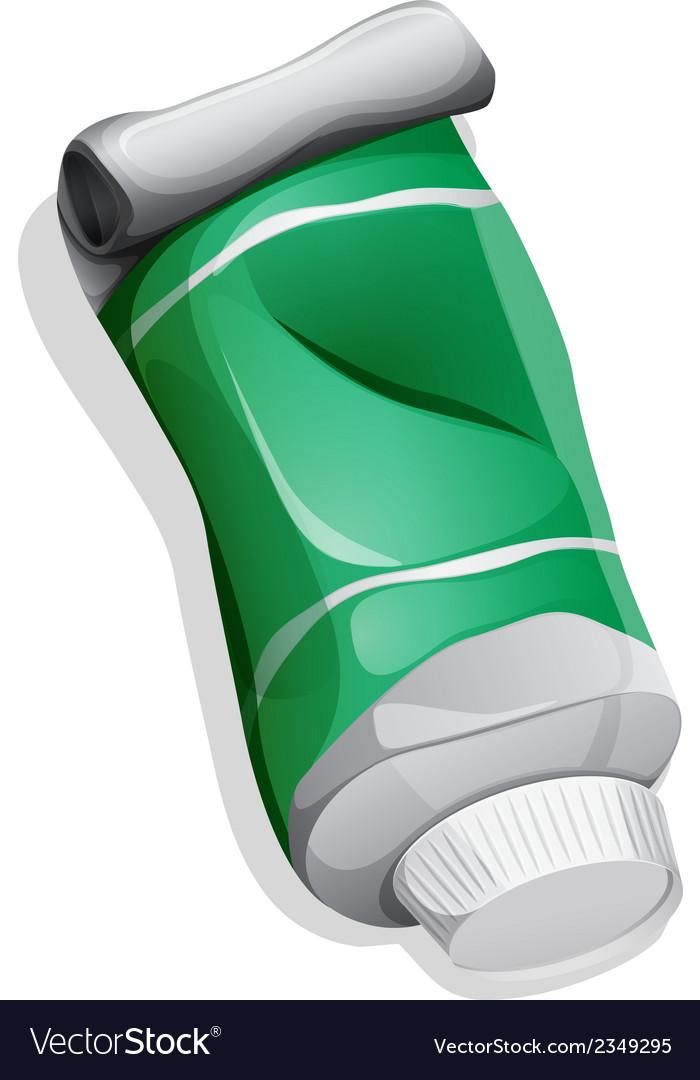 A green medicinal tube vector   Price: 1 Credit (USD $1)