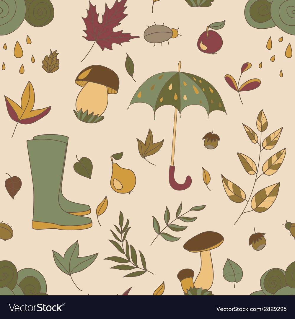 Autumn pattern seamless texture with autumn vector | Price: 1 Credit (USD $1)