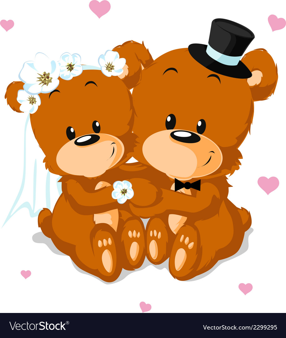 Bear wedding vector | Price: 1 Credit (USD $1)