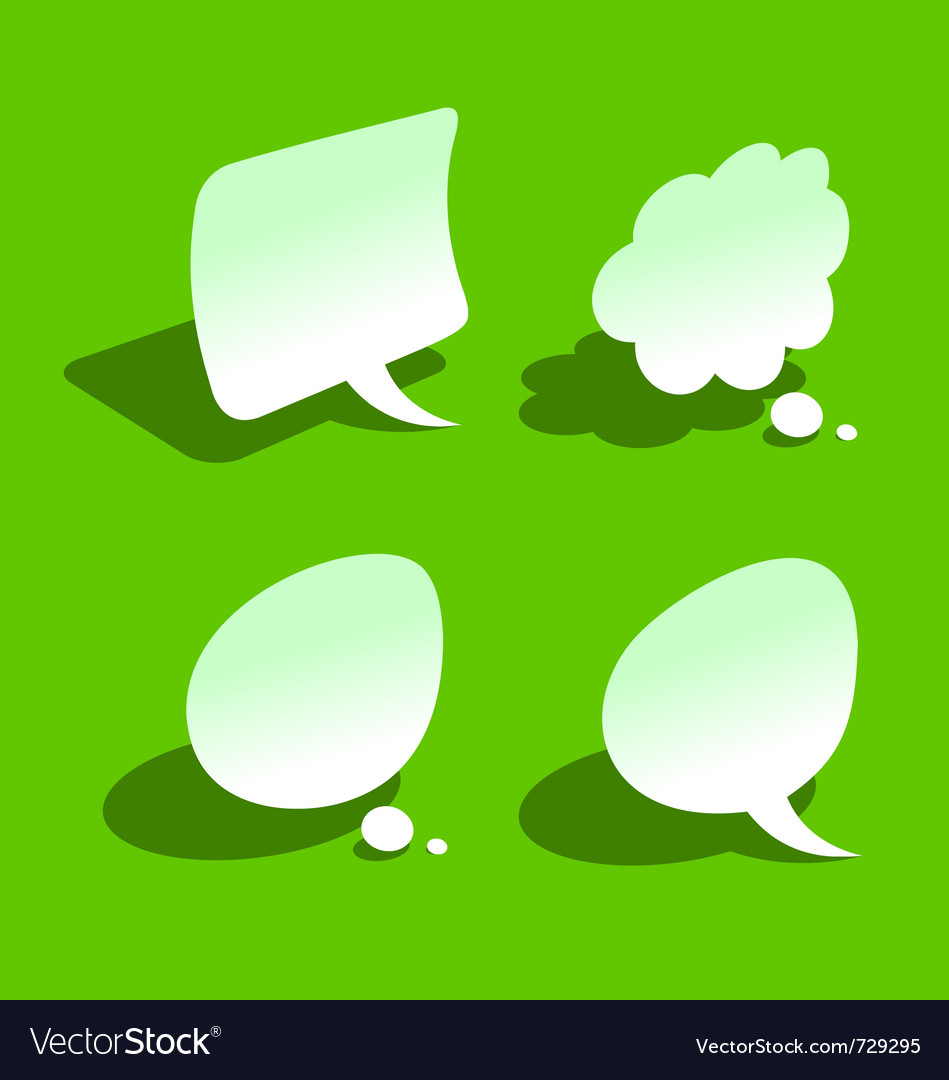 Bended paper style speech bubbles vector | Price: 1 Credit (USD $1)