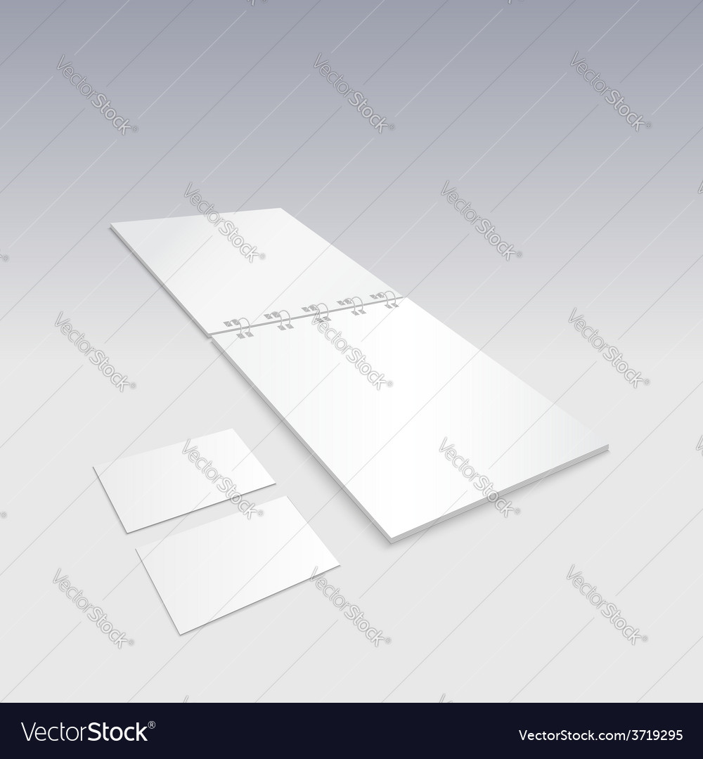 Blank spiral notebook with business cards vector | Price: 1 Credit (USD $1)