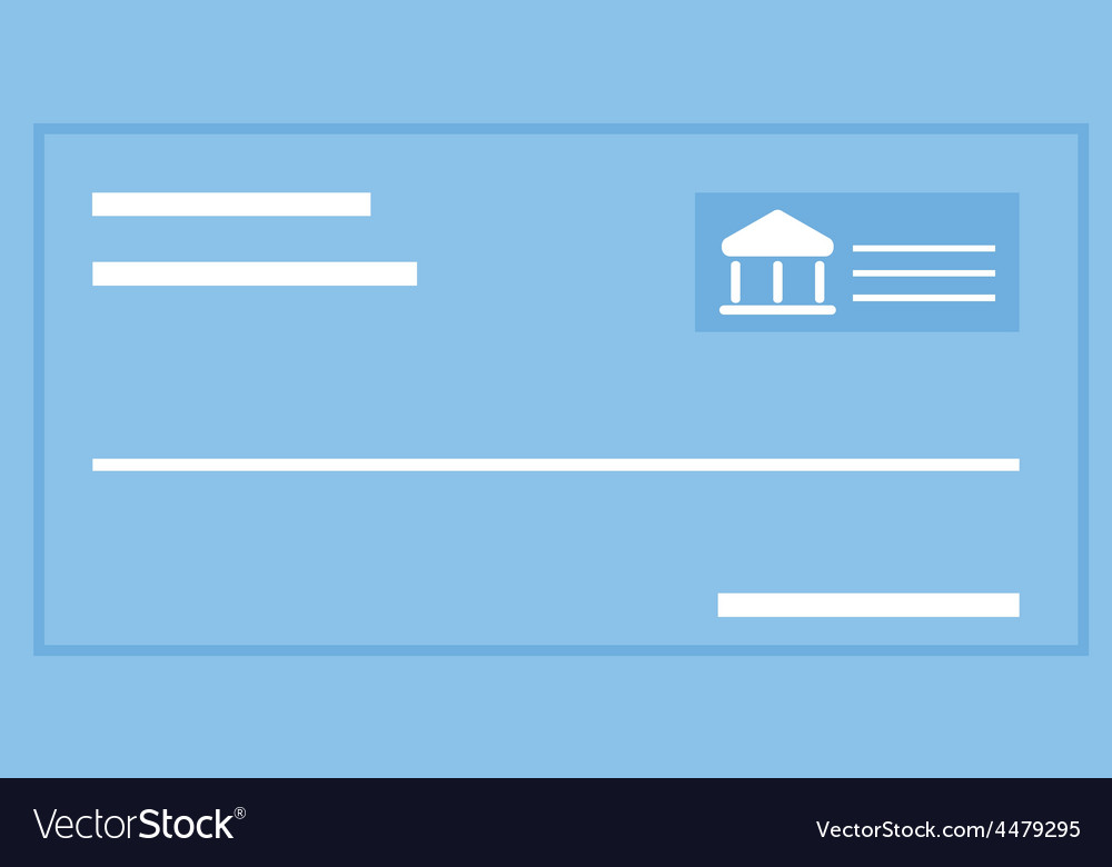 Cheque vector | Price: 1 Credit (USD $1)