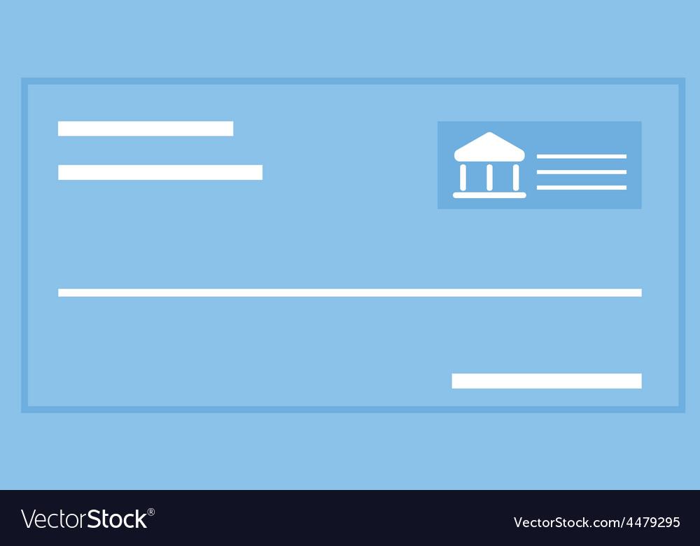 Cheque vector | Price: 1 Credit (USD $1)