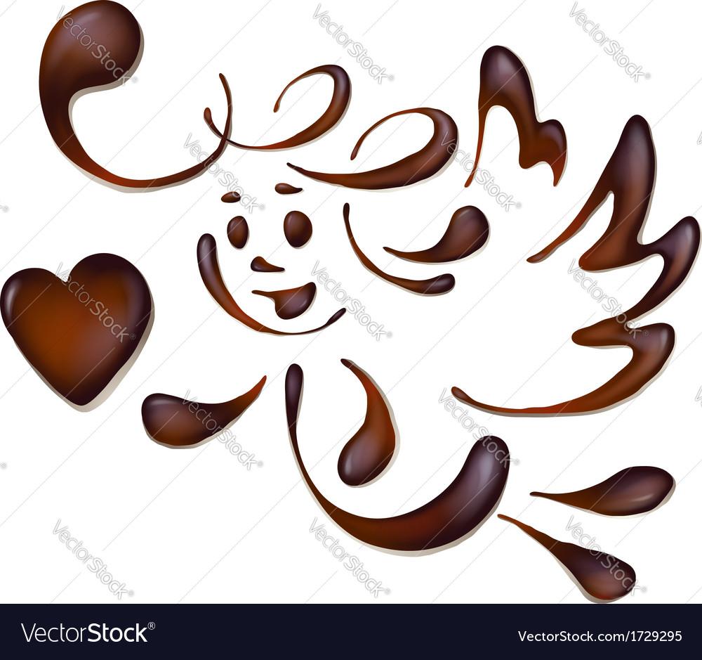 Chocolate angel vector | Price: 1 Credit (USD $1)