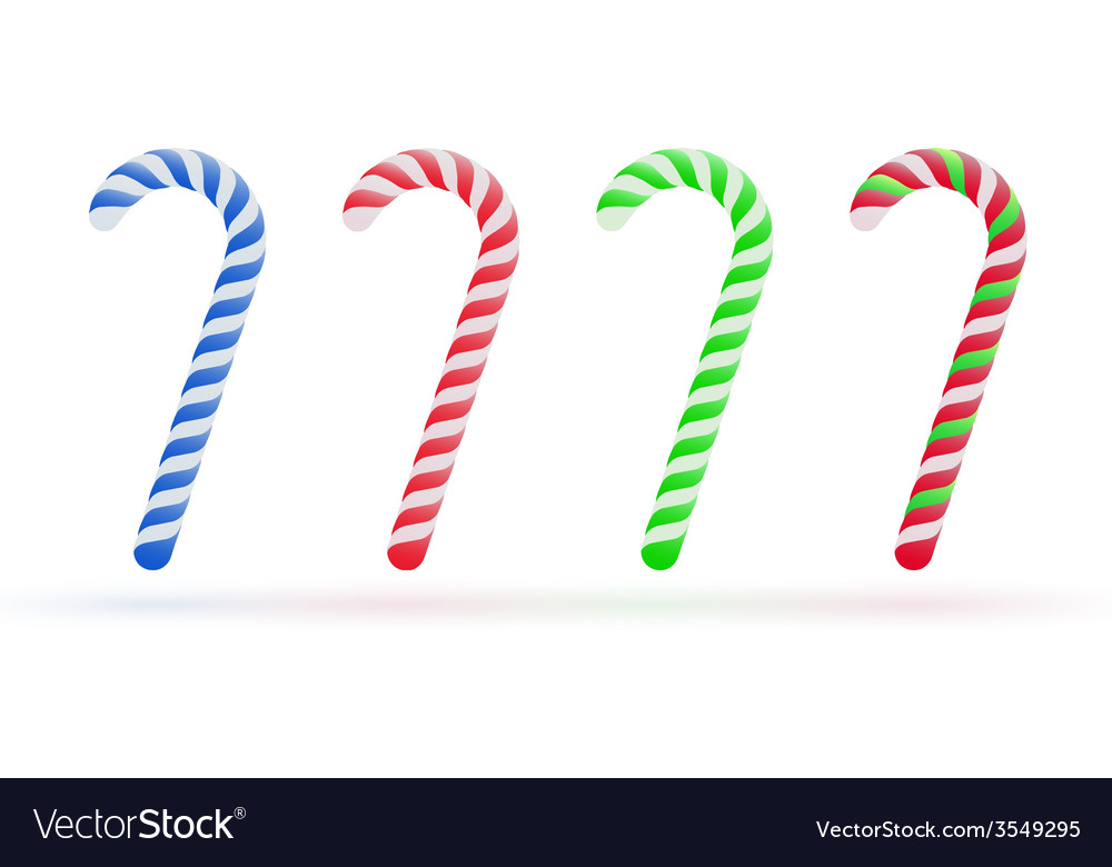 Christmas candy canes set isolated on white vector   Price: 1 Credit (USD $1)