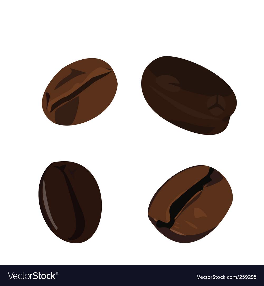 Coffee bean vector   Price: 1 Credit (USD $1)