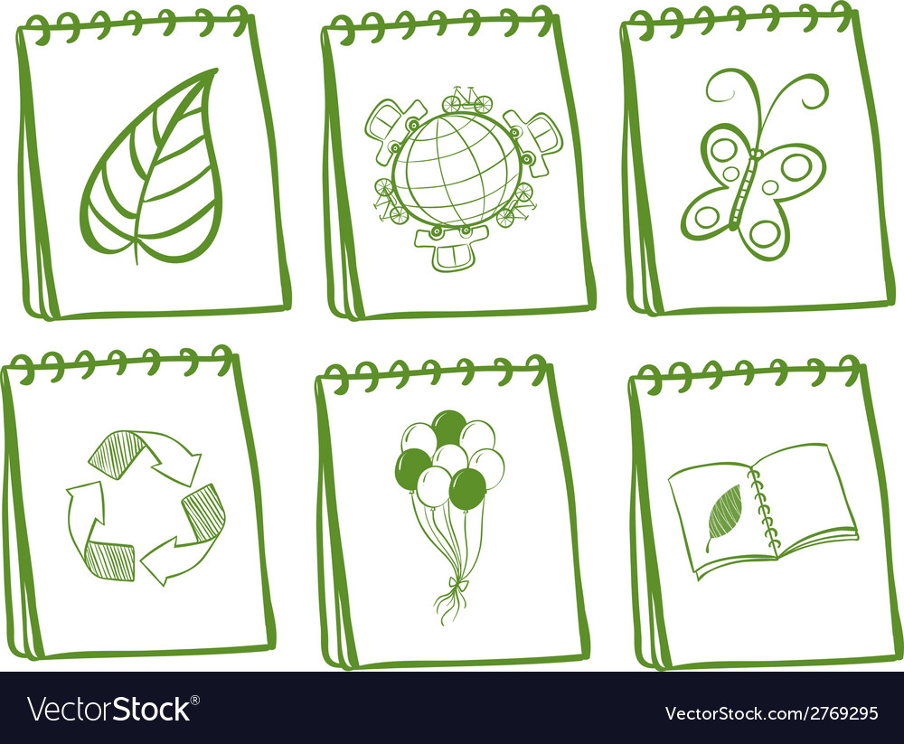 Green iconic set vector | Price: 1 Credit (USD $1)