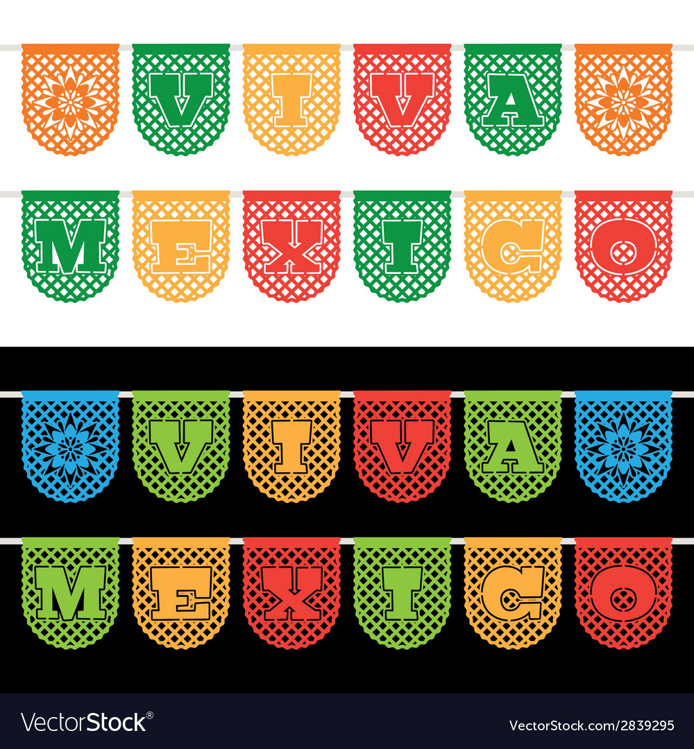 Mexican bunting banners vector | Price: 1 Credit (USD $1)