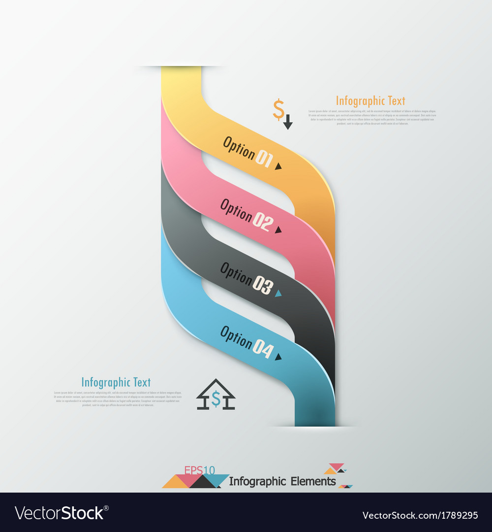 Modern infographic options banner vector   Price: 1 Credit (USD $1)