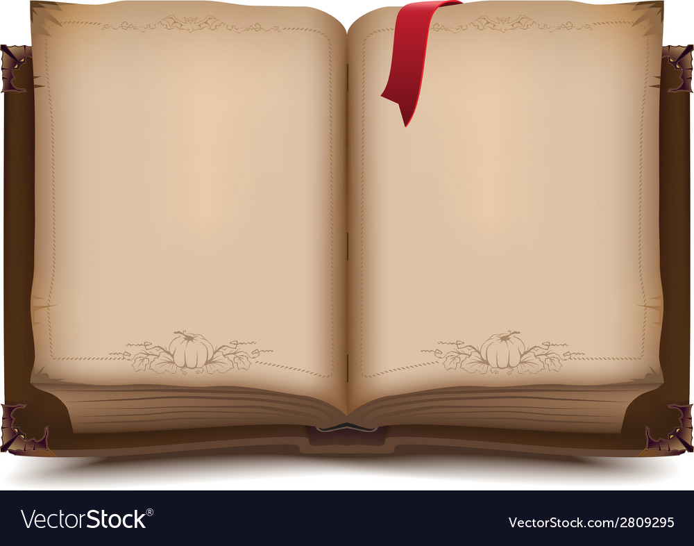 Old open book for halloween vector | Price: 1 Credit (USD $1)