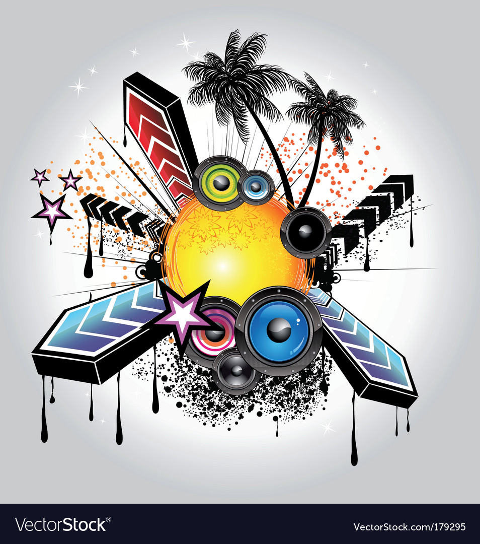 Tropical disco vector | Price: 3 Credit (USD $3)