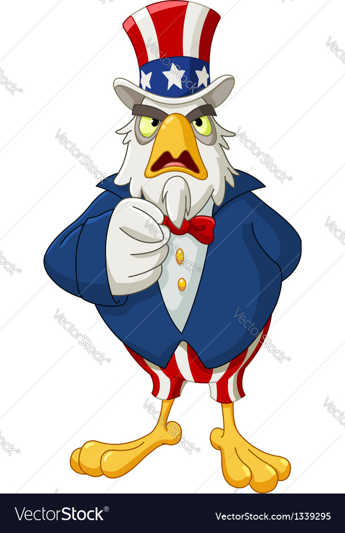 Uncle sam eagle vector | Price: 3 Credit (USD $3)