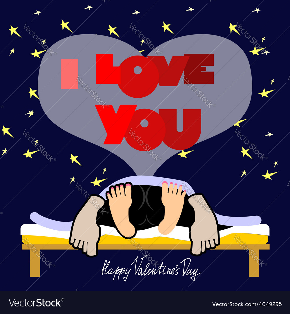 Valentines day card a funny vector | Price: 1 Credit (USD $1)