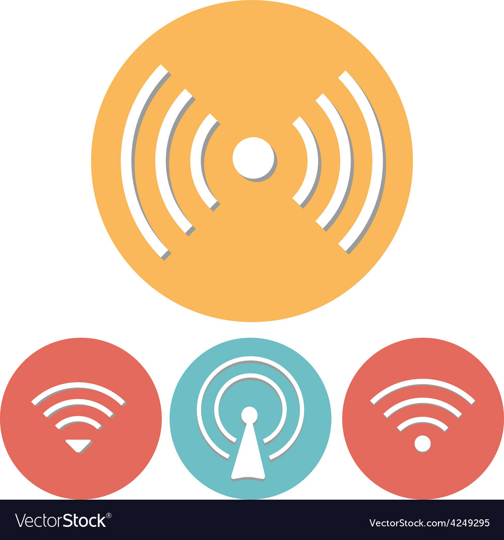 Wi-fi icons set of flat design vector | Price: 1 Credit (USD $1)