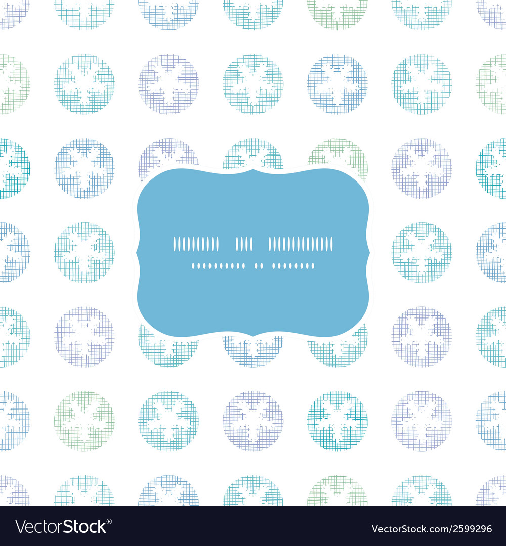 Abstract textile snowflakes dots frame seamless vector | Price: 1 Credit (USD $1)