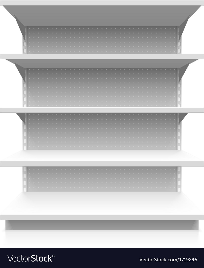 Empty supermarket shelf vector | Price: 1 Credit (USD $1)