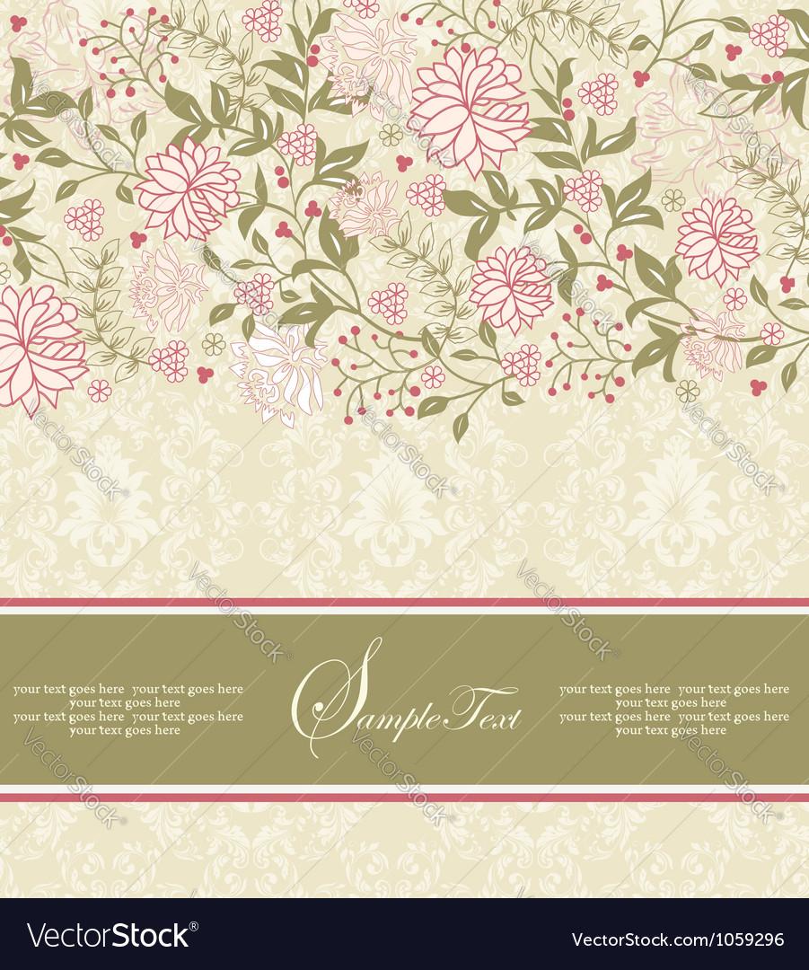 Floral invitation vector | Price: 1 Credit (USD $1)