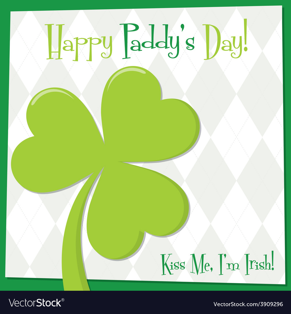 Funky bright st patricks day card in format vector | Price: 1 Credit (USD $1)