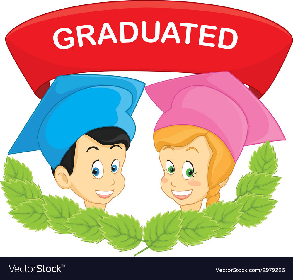 Graduated students vector | Price: 1 Credit (USD $1)