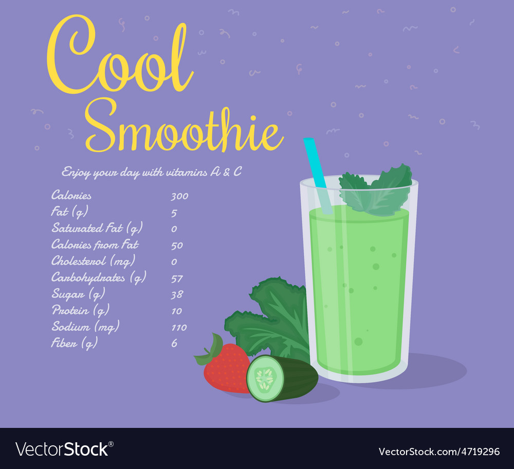 Green cool smoothie vector | Price: 1 Credit (USD $1)