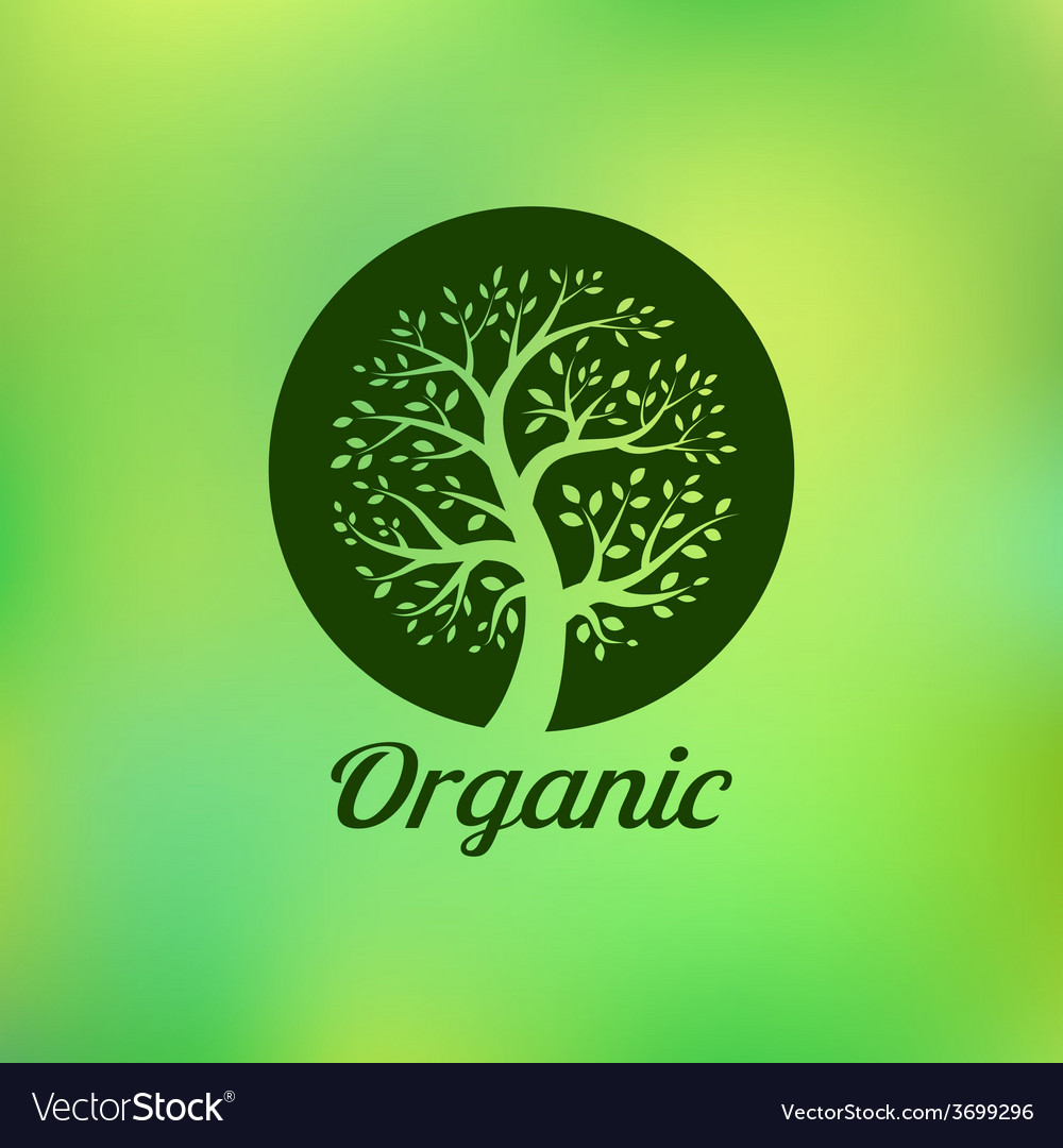 Organic green tree logo eco emblem vector | Price: 1 Credit (USD $1)