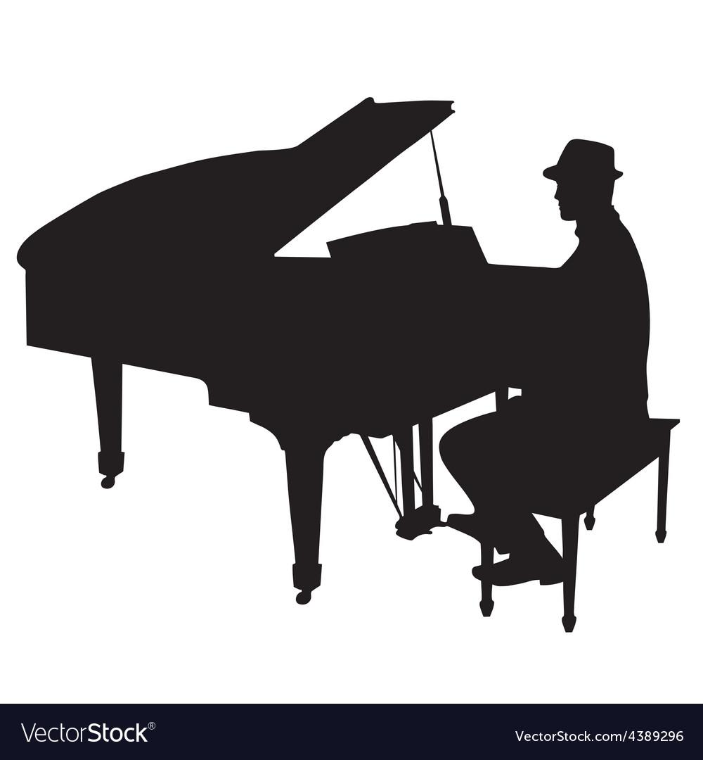 Piano man vector | Price: 1 Credit (USD $1)