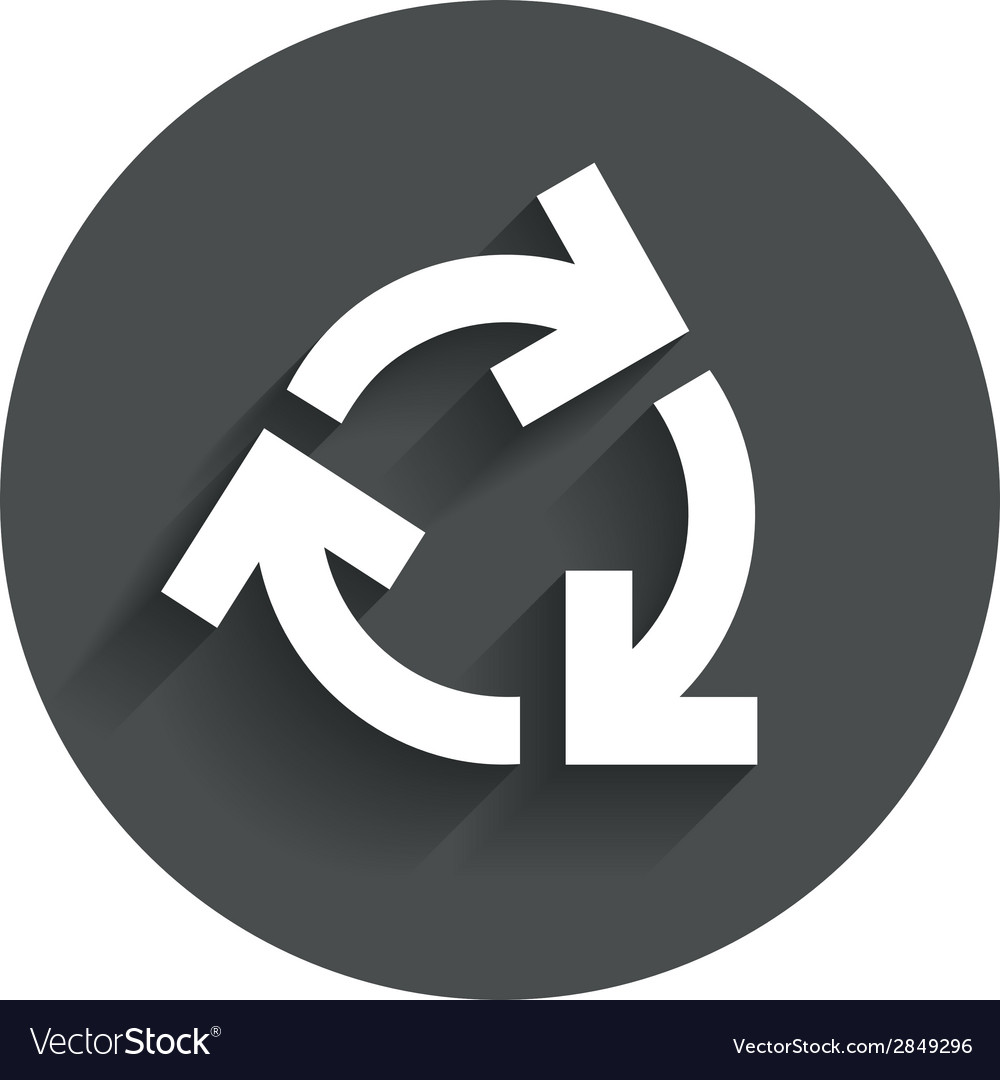 Recycling sign icon reuse or reduce symbol vector | Price: 1 Credit (USD $1)