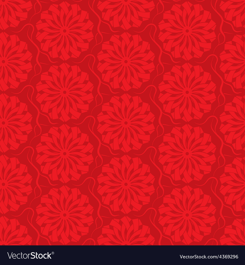 Red seamless background ornamental pattern vector | Price: 1 Credit (USD $1)