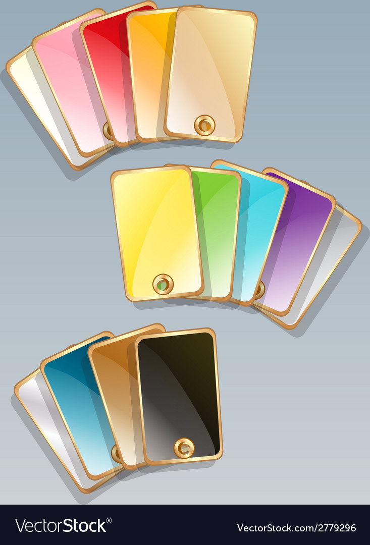 Set of gold color patterns vector | Price: 1 Credit (USD $1)