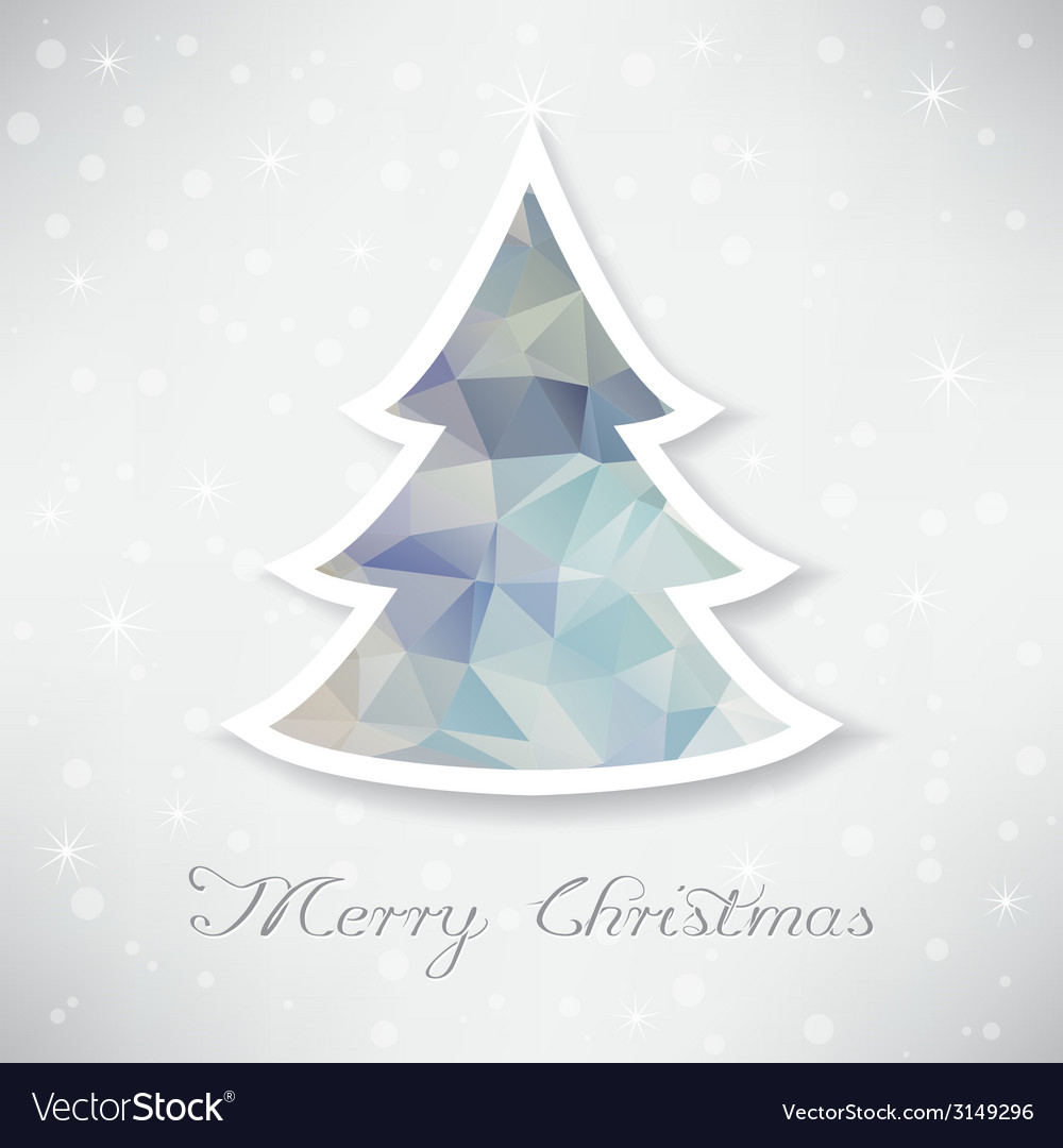 Silver christmas tree with triangle filling vector | Price: 1 Credit (USD $1)