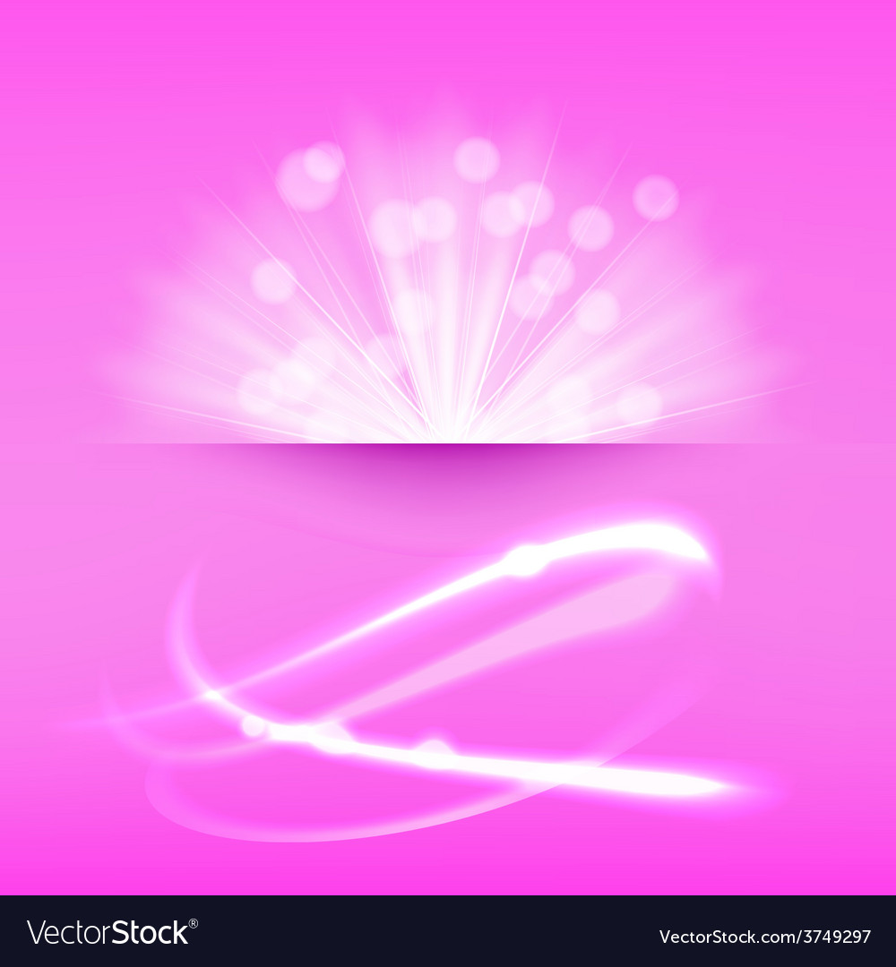 Abstract light burst pink vector | Price: 1 Credit (USD $1)