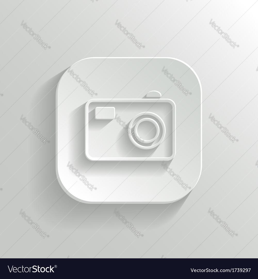 Camera icon - white app button vector   Price: 1 Credit (USD $1)