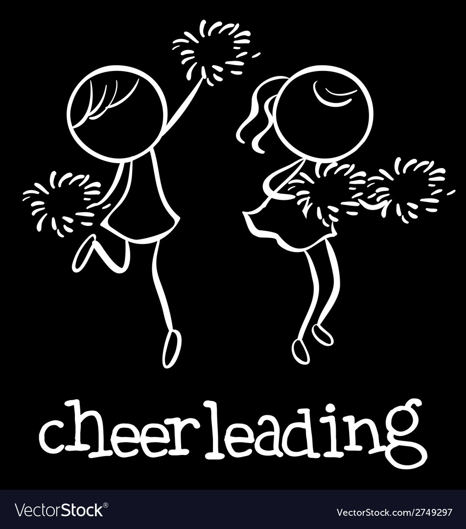 Cheerleading vector | Price: 1 Credit (USD $1)