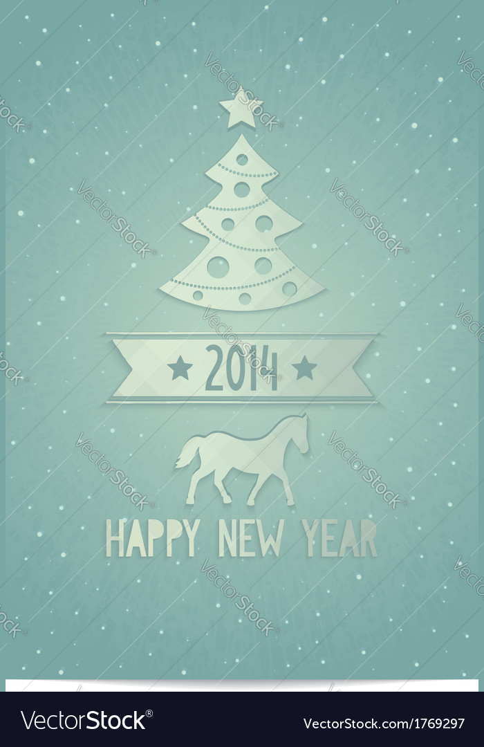 Christmas greeting card with symbols 2014 vector   Price: 1 Credit (USD $1)
