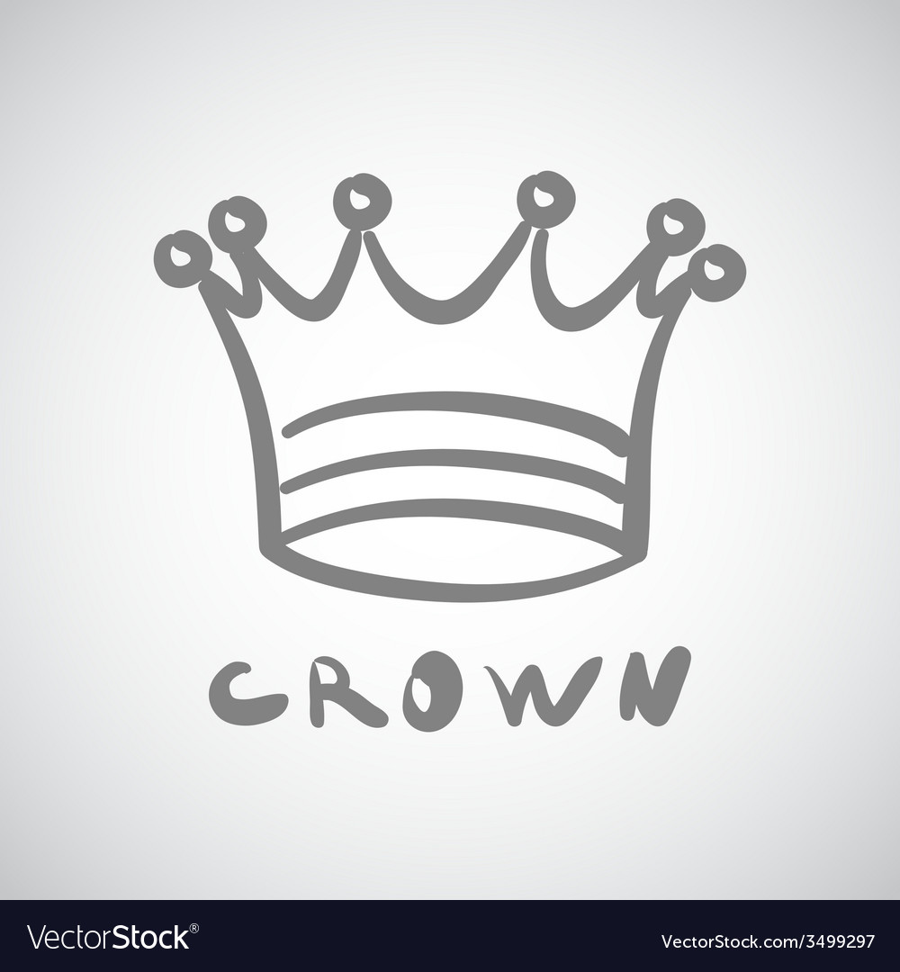 Crown icon king cute isolated success queen vector | Price: 1 Credit (USD $1)
